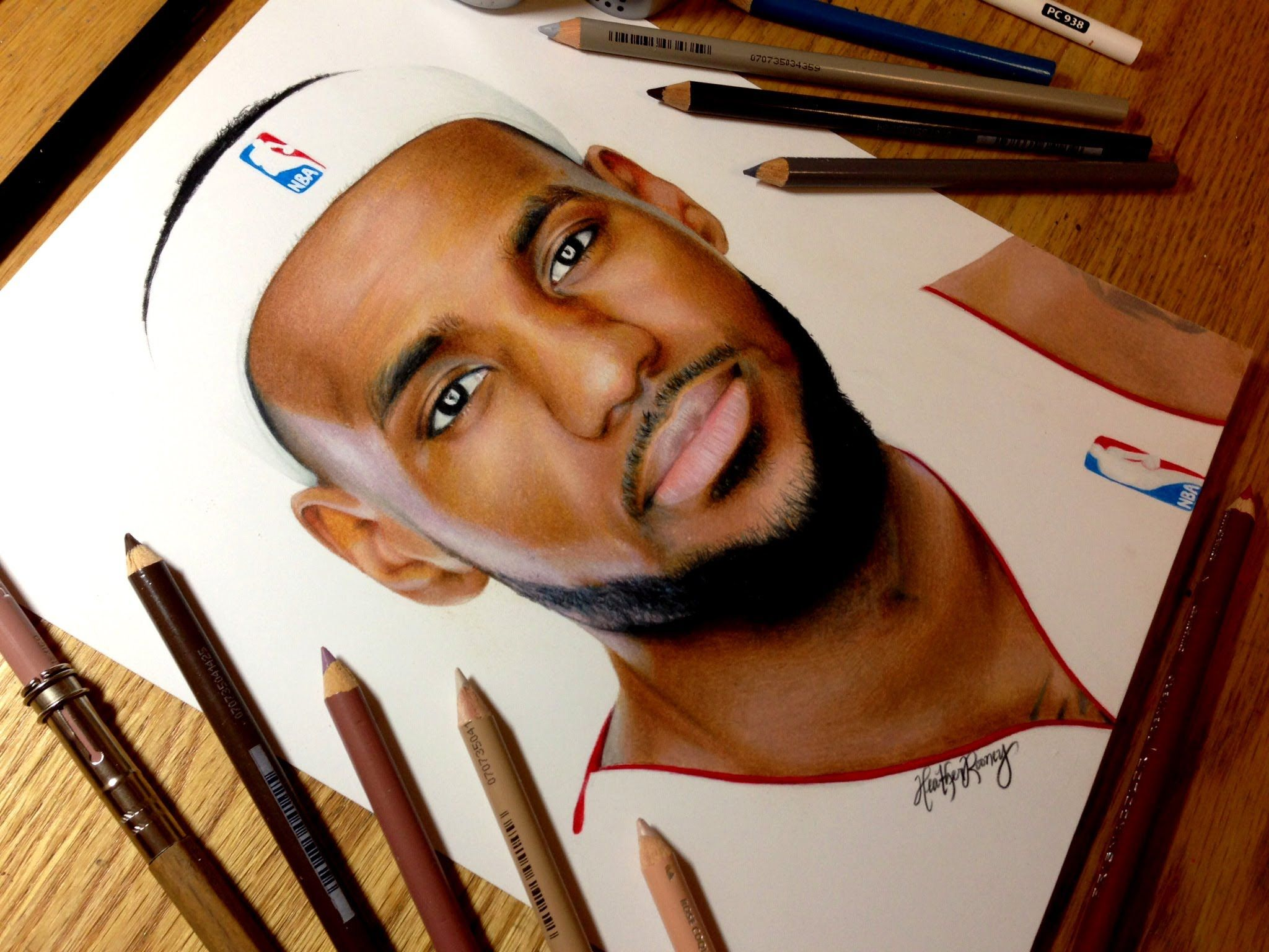 Awesome Time Lapse Of Tromp L Oeil Art From A 20 Year Old Student Drawing Lebron James Lebron James Color Pencil Drawing Realistic Drawings