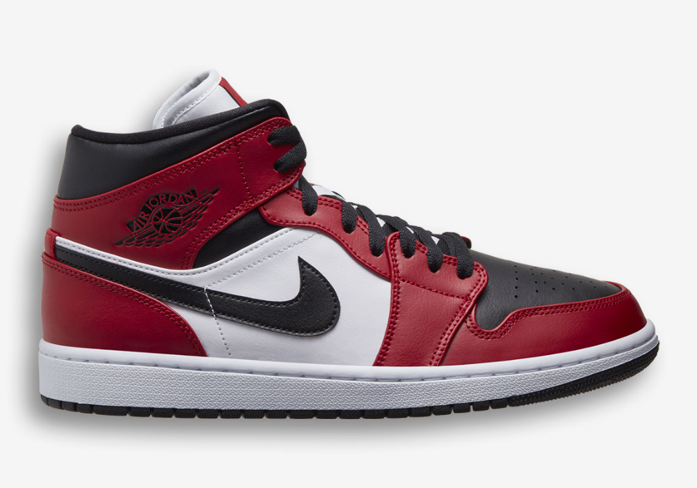 Air Jordan 1 Mid Chicago Toe 554724 069 Release Info Sneakernews Com Air Jordans Jordan 1 Mid Jordan 1