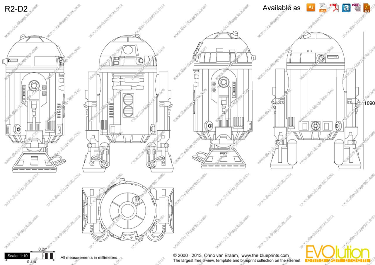 The blueprints vector drawing r2 schematics blueprint the blueprints vector drawing r2 malvernweather Images