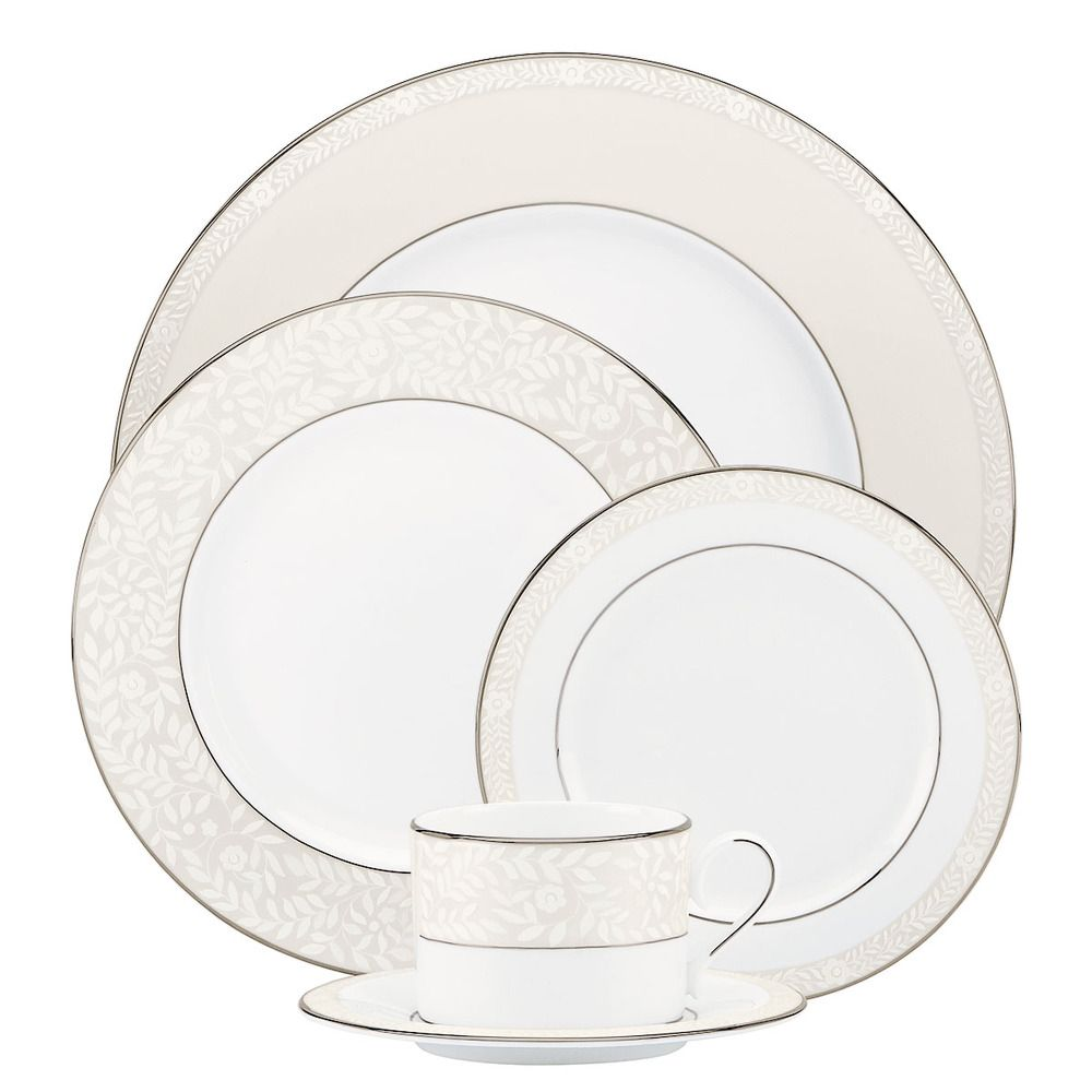 Sheer Grace 5-piece Dinnerware Place Setting | Overstock.com