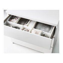 Malm Kommode Mit 3 Schubladen Eichenfurnier Weiß Lasiert Ideen