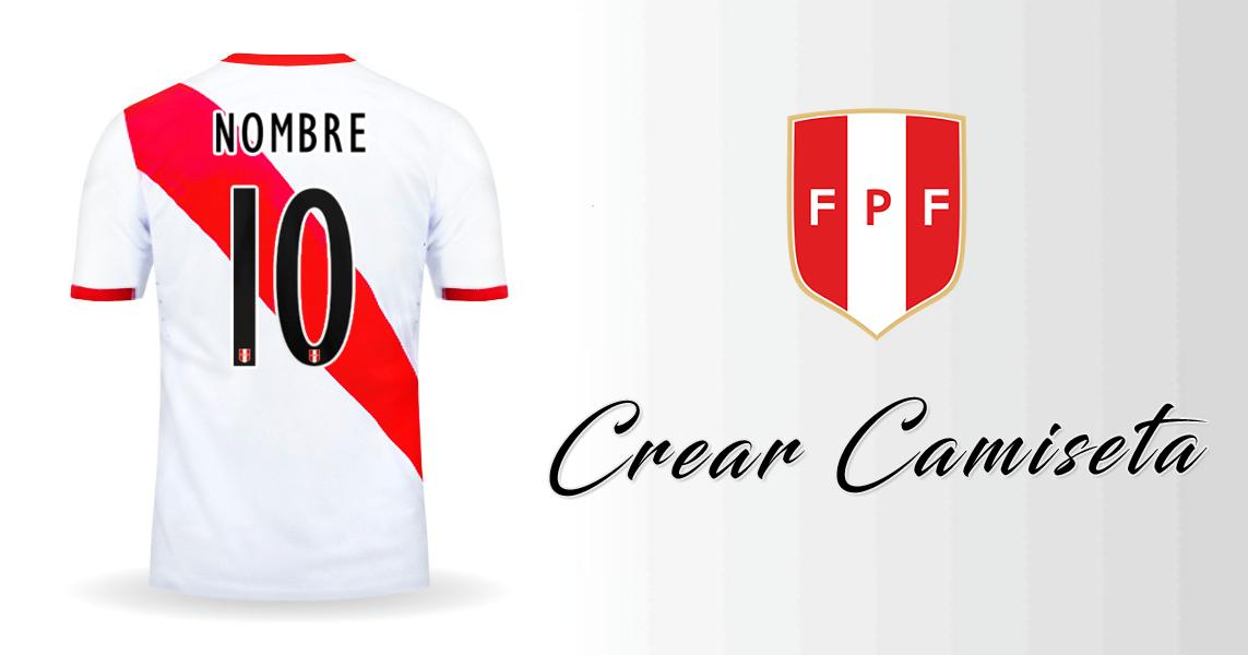 7949f860473b7 Personalizar camiseta de Peru 2015 2016 con tu Nombre y Numero. Compartela  en Facebook