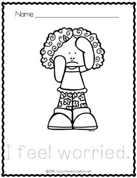 Feelings Coloring Sheets FREEBIE- Savvy School Counselor
