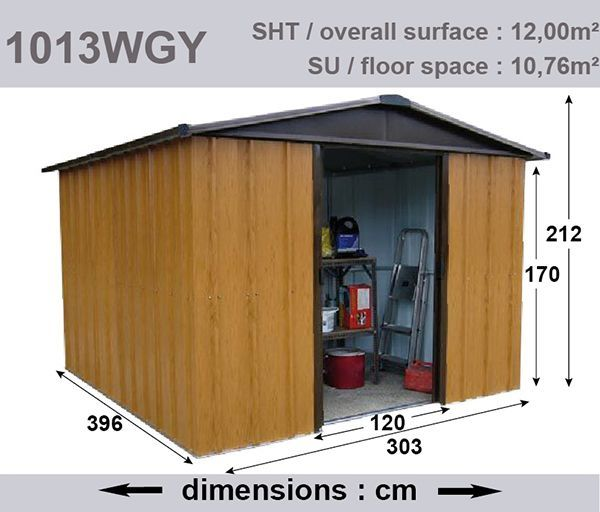 Abri de jardin métal 12,00 m² - YARDMASTER - Abri de jardin métal