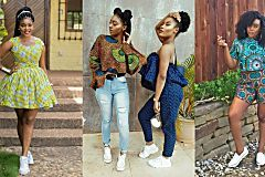 ANKARA AND SNEAKERS IS THE LATEST STYLE