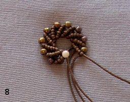 Макраме с бисером: серьги-спиральки - Ярмарка Мастеров - ручная работа, handmade