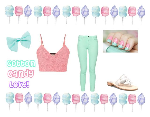 """""""Cotton Candy Love!"""" by yani-02 ❤ liked on Polyvore featuring Cotton Candy, maurices, Wet Seal, Jack Rogers and French Connection"""