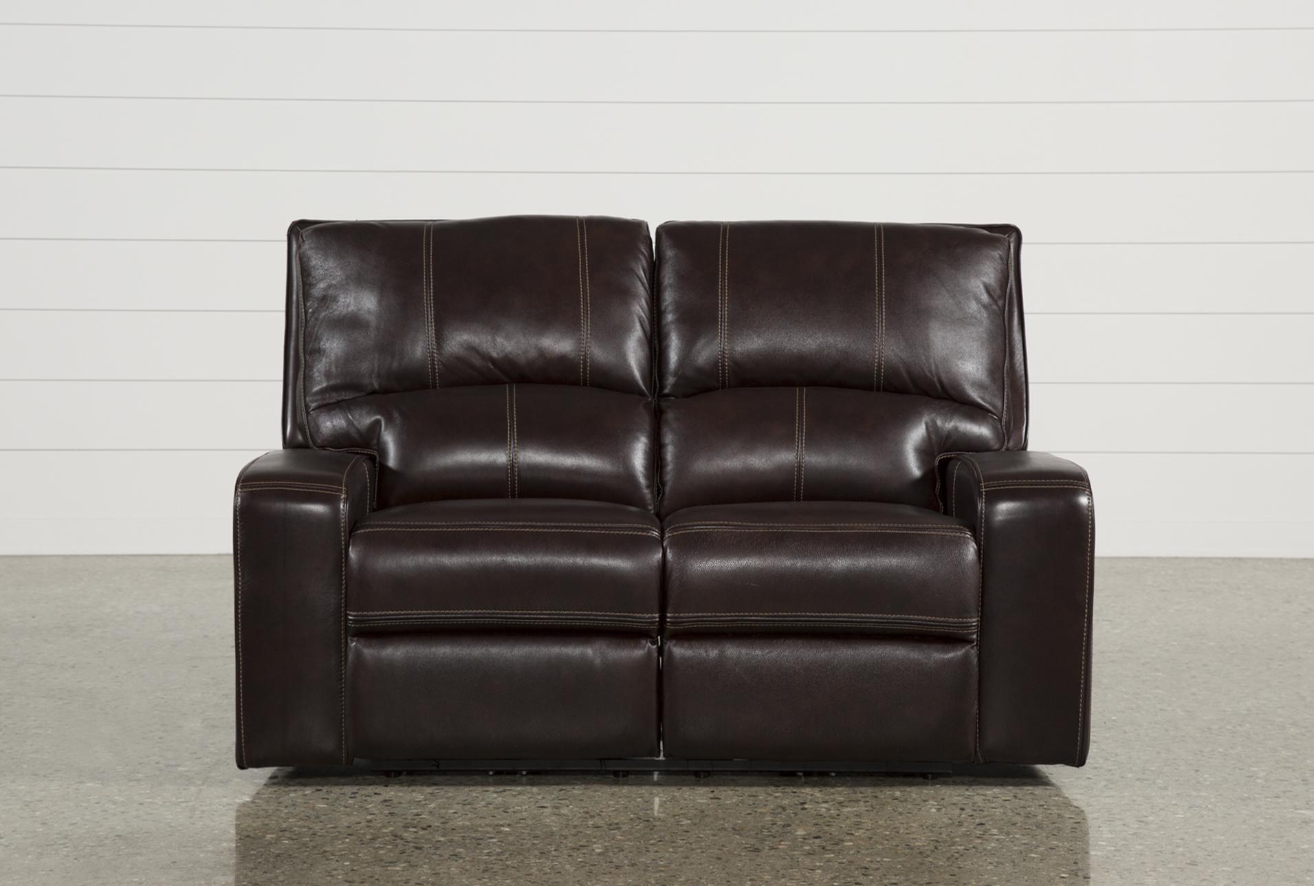 Marvelous Clyde Dark Brown Leather Power Reclining Loveseat W Power Short Links Chair Design For Home Short Linksinfo