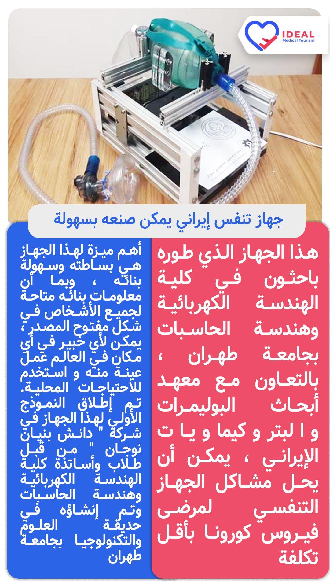 جهاز التنفس الإيراني هذا الجهاز الذي تم تطويره في جامعة طهران يمكنه حل مشاكل الجهاز التنفسي لمرضى فيروس كورونا بأقل تكلفة أهم Tourism Event Event Ticket