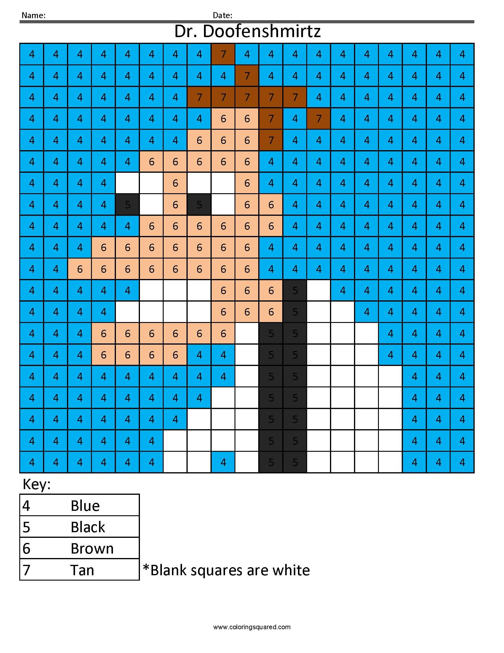 dr doofenshmirtz cartoon color by number coloring squared