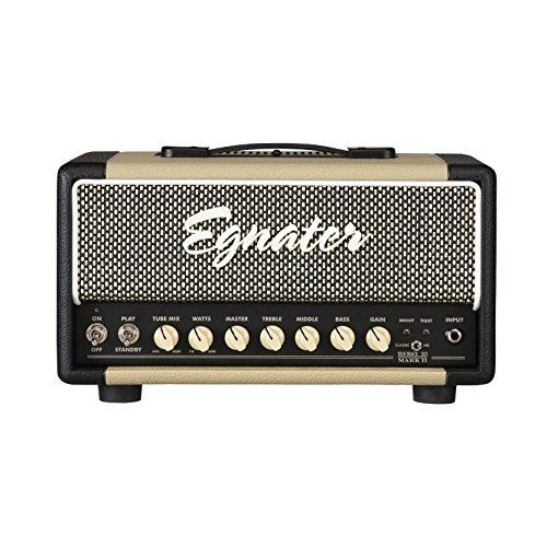 Egnater REBEL -20 MARK II 20-Watt One-Channel Tube Head with Tube Mix, 2 x 6V6 and 2 x EL84 Power Tubes, 3 x 12AX7 Preamp Tubes *** Click image to review more details.