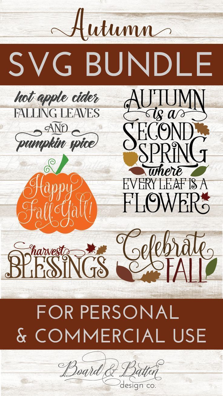 Fall & Autumn SVG File Bundle Silhouette school blog