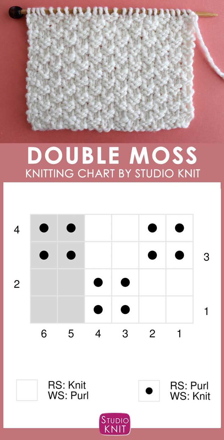 Photo of Double Moss Stitch Knitting Pattern for Beginners | Studio Knit