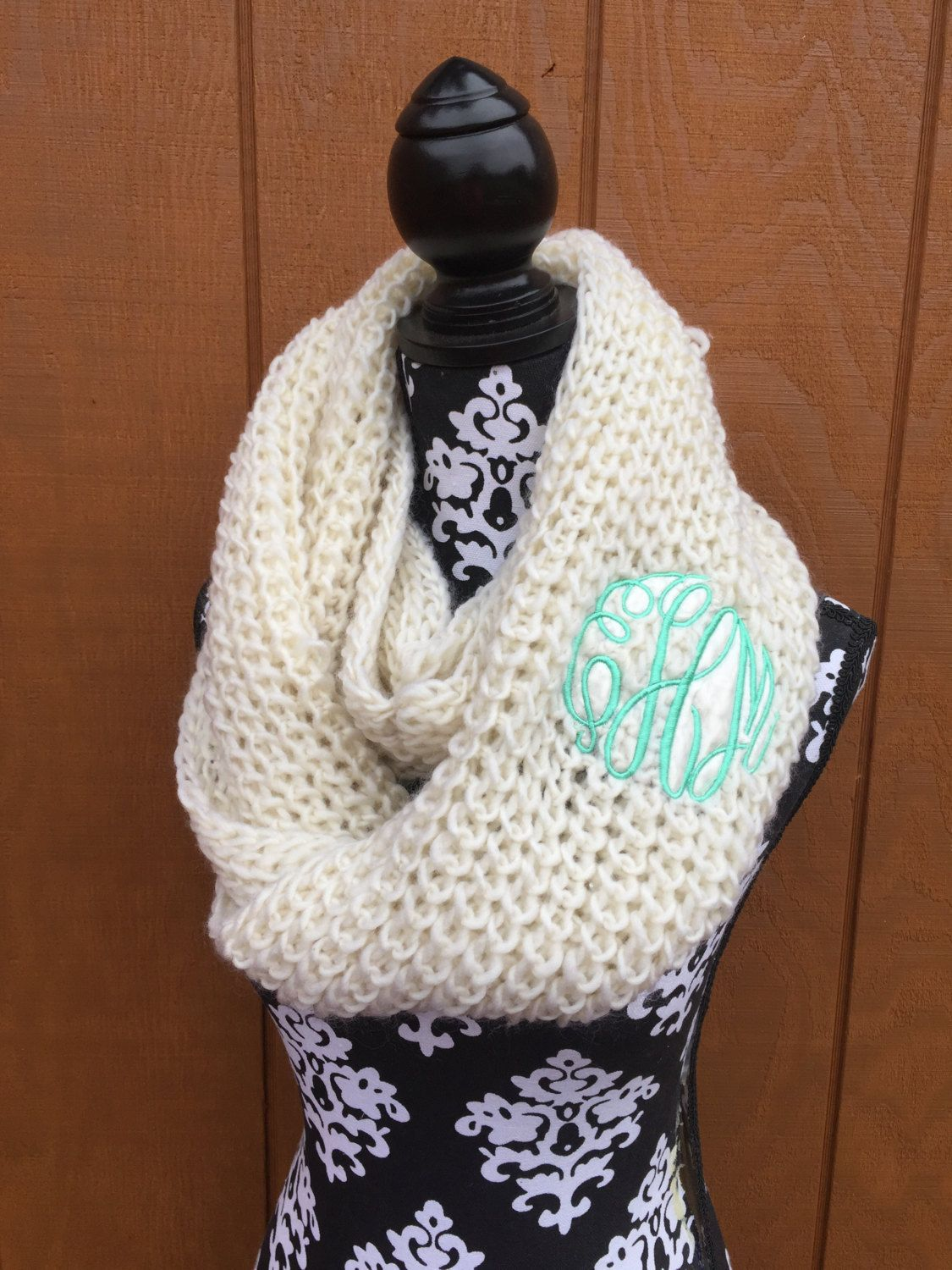 Masters of Thoughts White Winter Scarf