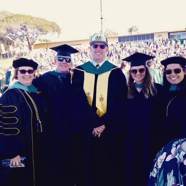 """At the Mira Costa High School commencement ceremony, Principal Ben Dale urged graduates to prioritize """"selfless service"""" to others in need."""