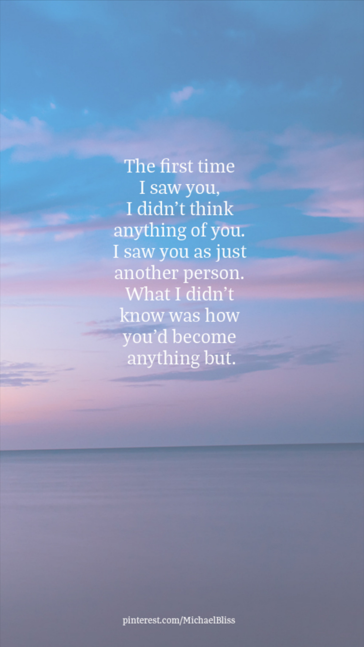 The first time I saw you,