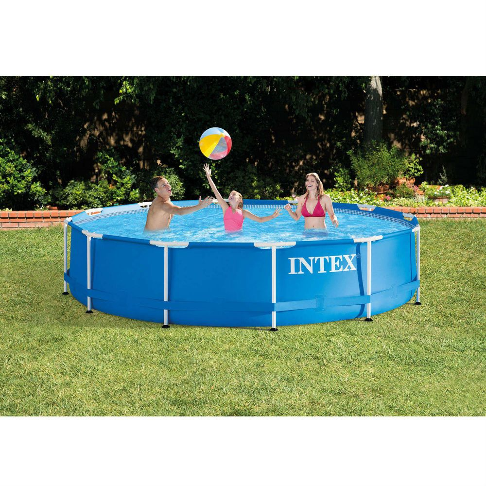 Exceptional Details About Metal Frame Above Ground Swimming Pool With Filter Pump Intex  12u0027 X 30u0027u0027