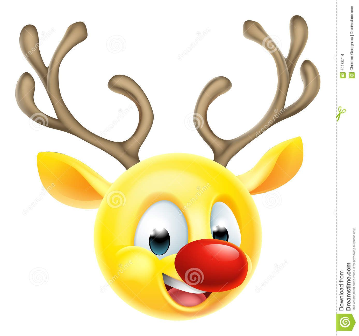 Christmas Reindeer Emoticon Emoji Emoji Christmas Emoticon Emoji