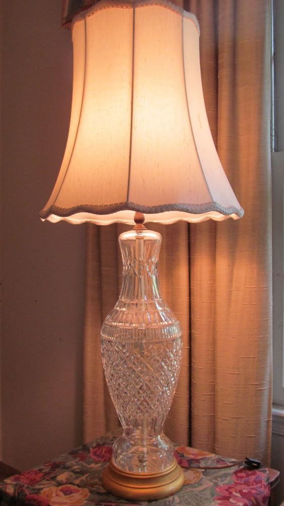 Large Vintage Waterford lamps 37 Tall Includes