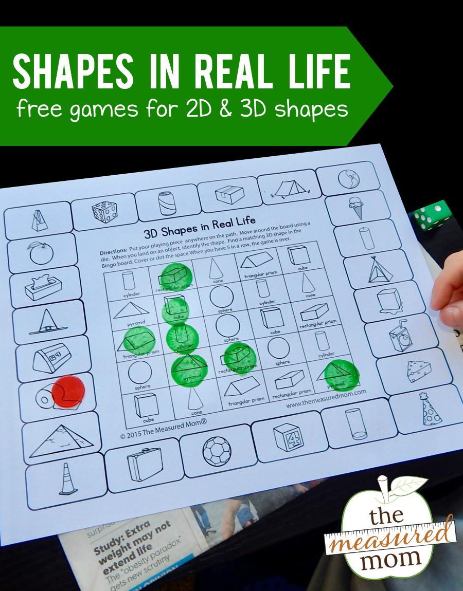 2D and 3D Shape games   Pinterest   Shape games, 3d shapes and Math