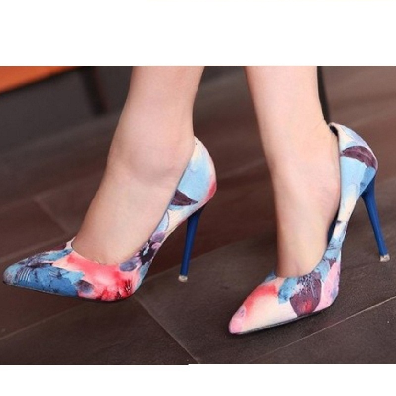 (29.20$)  Buy here - http://ai3ej.worlditems.win/all/product.php?id=2012488394 - Freeshipping Korean Designer New Arrival Point Toe Floral Princes Fashion Flower Sexy Dress Shoes Women Evening Shoes R219