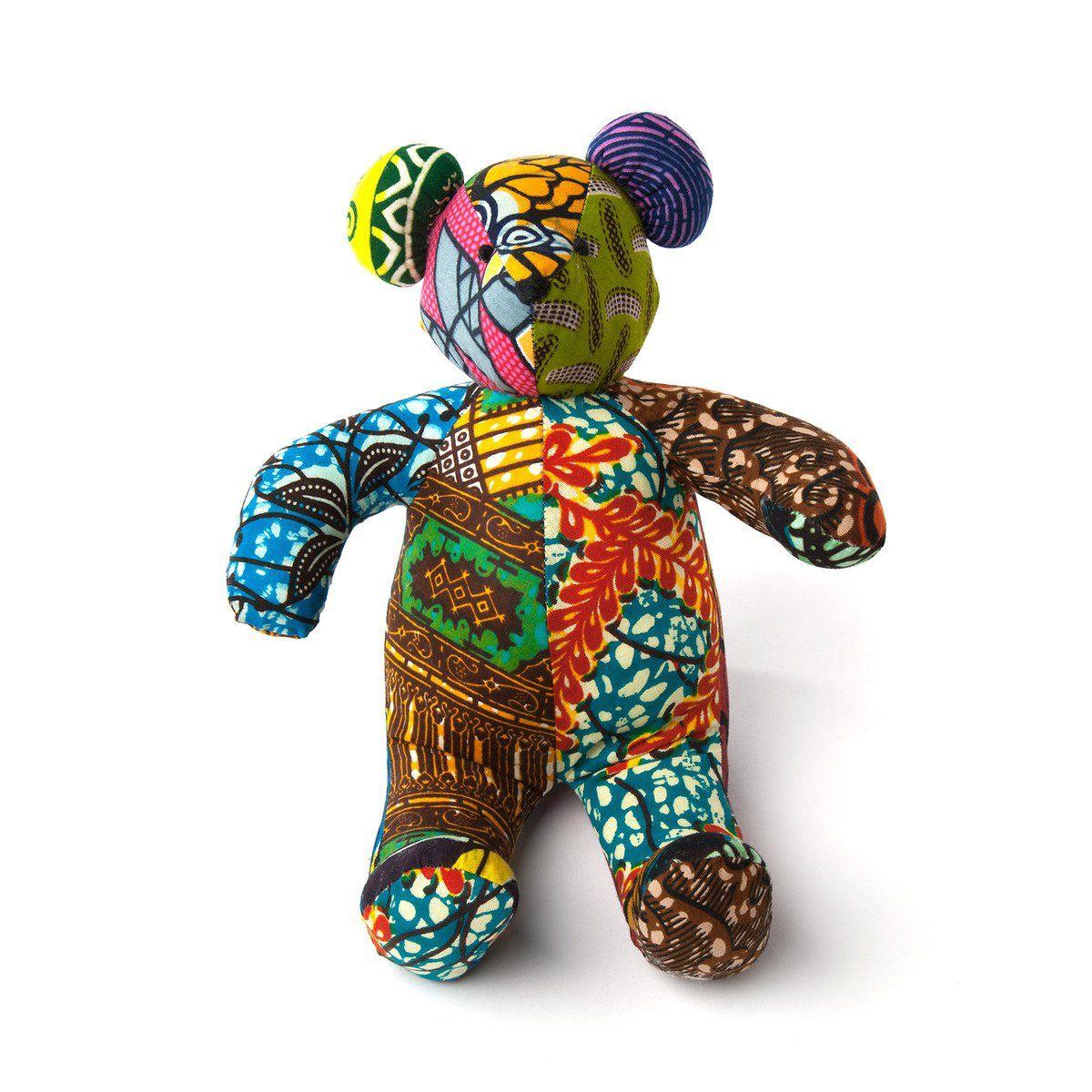 Wax Print Fabric Teddy Bear