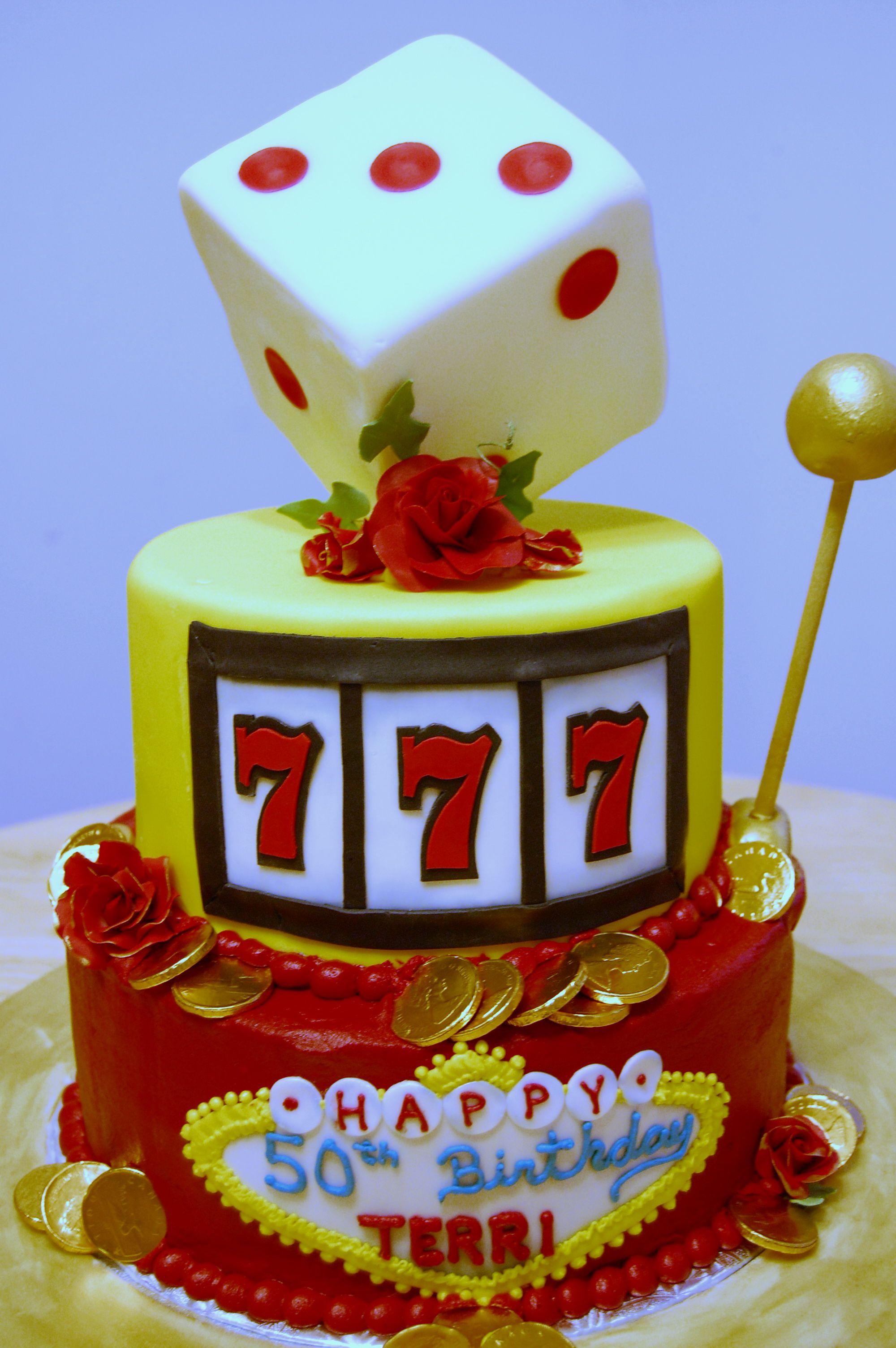 Casino Cake  Made for a friend who wanted to suprise someone.  October 8, 2010
