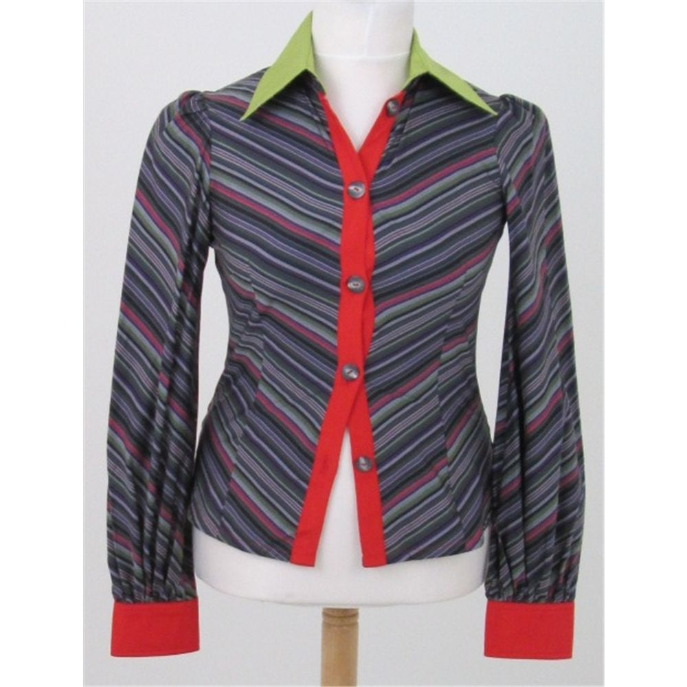 Unbranded Size: S Multi-coloured striped long sleeved shirt | Oxfam GB | Oxfam's Online Shop