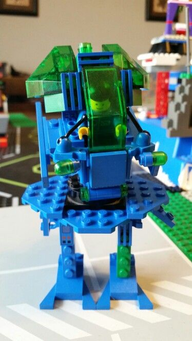 My son wanted a green and blue mech.