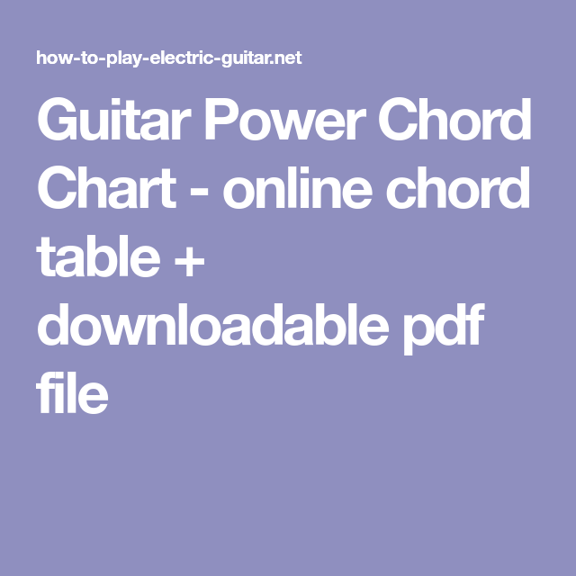 Guitar power chord chart online table downloadable pdf file also rh pinterest
