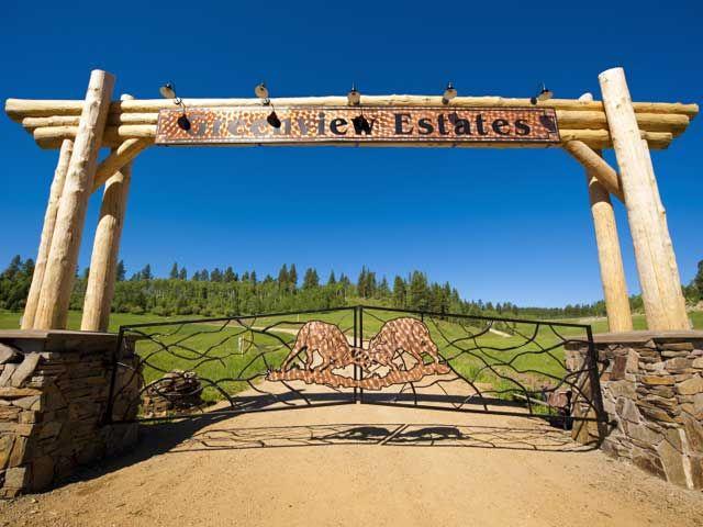 Gated Entrance Designs Custom Log Timber Entrance