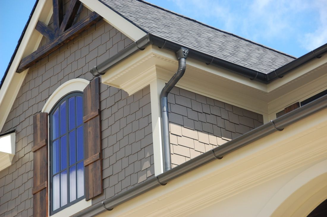 Half Round Gutters Exterior House Colors House Gutters Shingle Style Homes