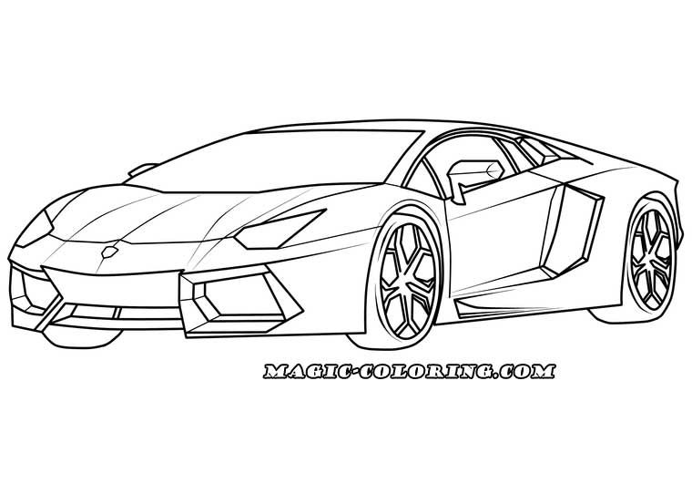 Transportation Coloring Pages Lamborghini Pictures Lamborghini