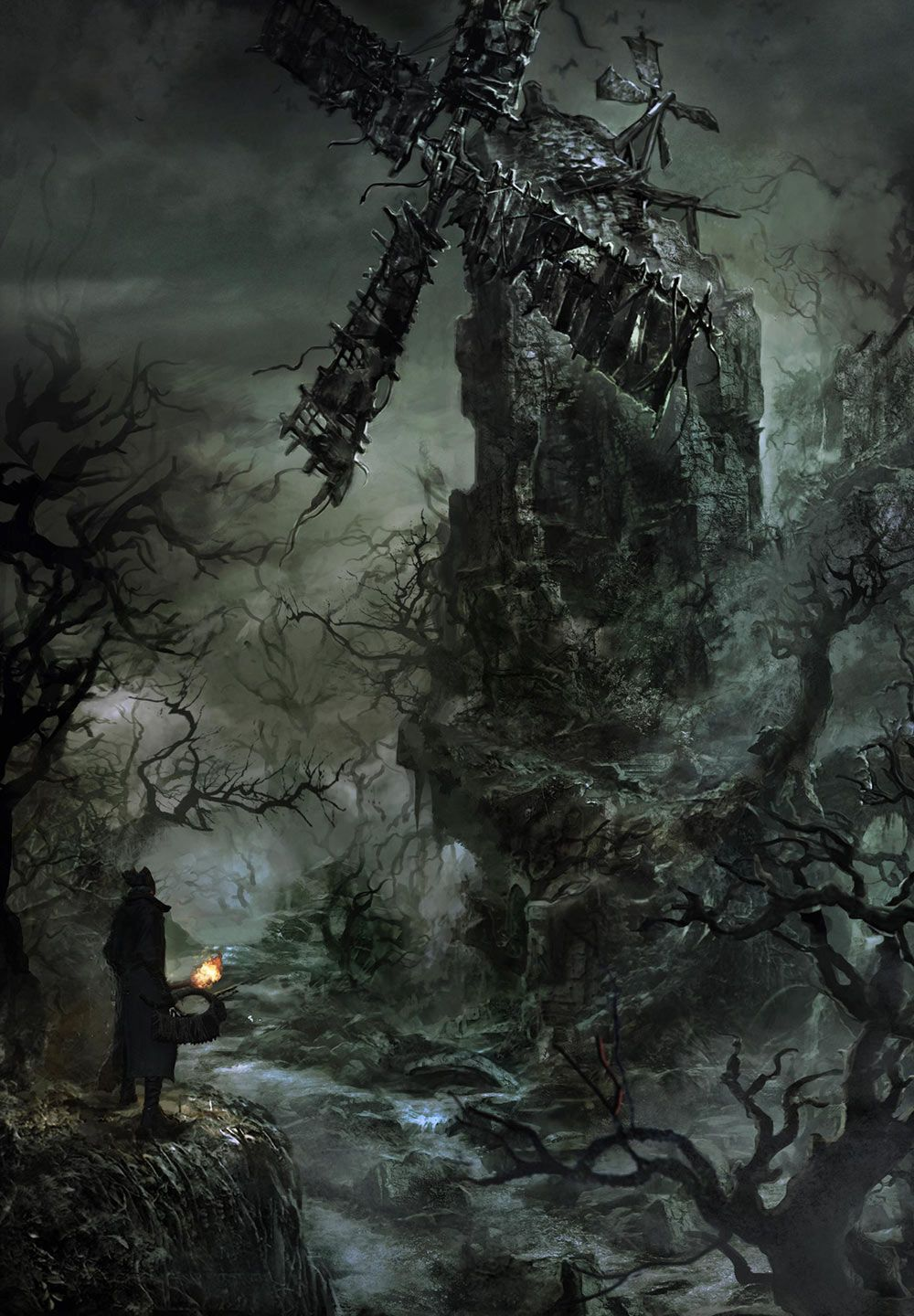 Forest Windmill Characters Art Bloodborne Con Imagenes