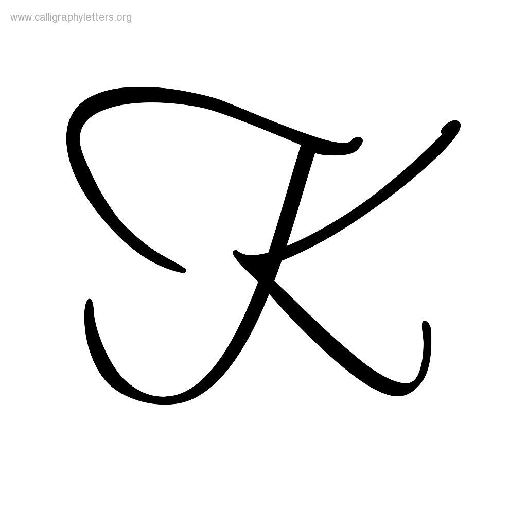 Image Result For Script Letter K Cursive Letters Fancy