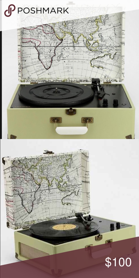 NEW CROSLEY GREEN WORLD MAP RECORD PLAYER New green Crosley world