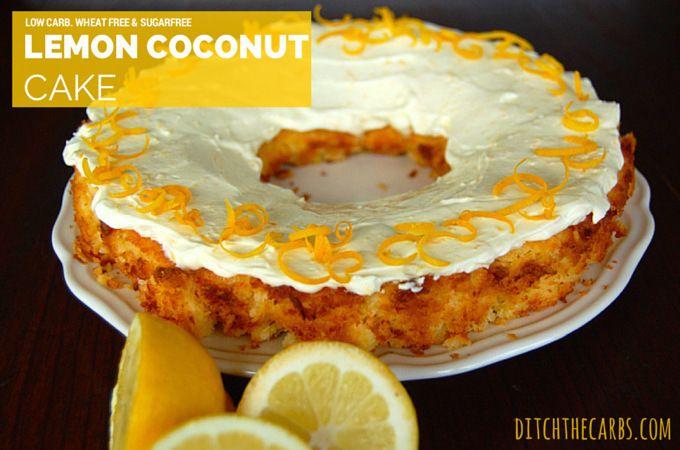 Atkins Low Carb Cake Recipes: Low Carb Lemon Coconut Cake