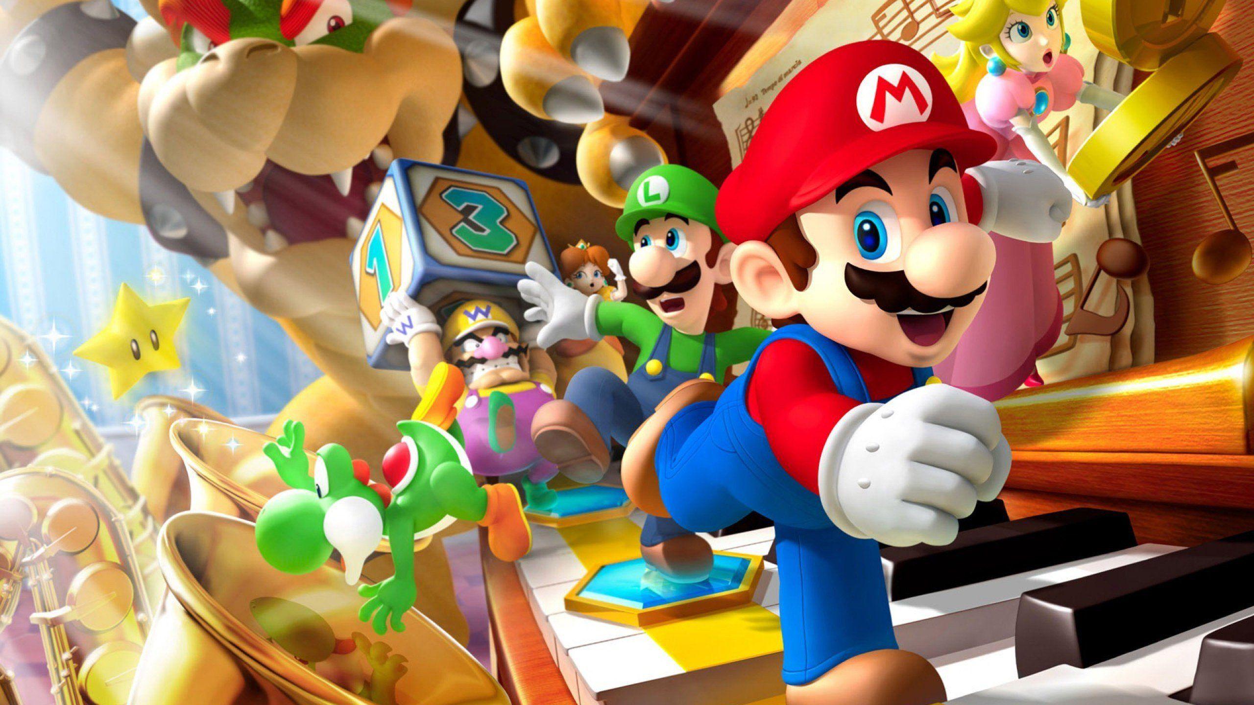 los mejores wallpaper HD para PC!!! Mario y luigi