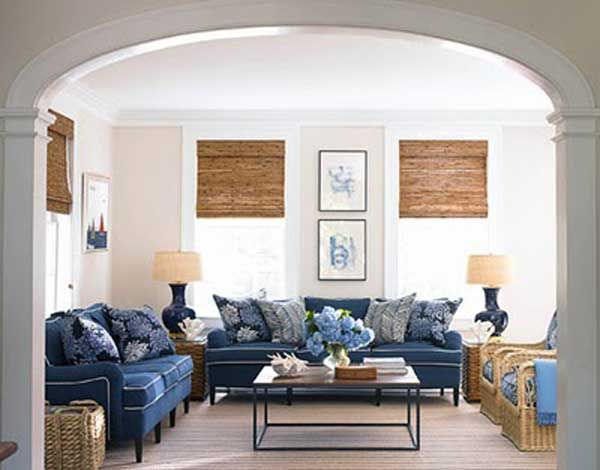 Gorgeous Navy Blue Sofa To Decorating Living Room