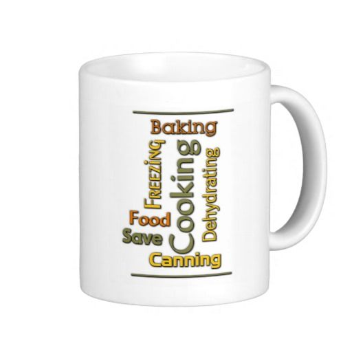 Cooking Word Art Mug Lovely Word Art about old skills that have suddenly become popular again.