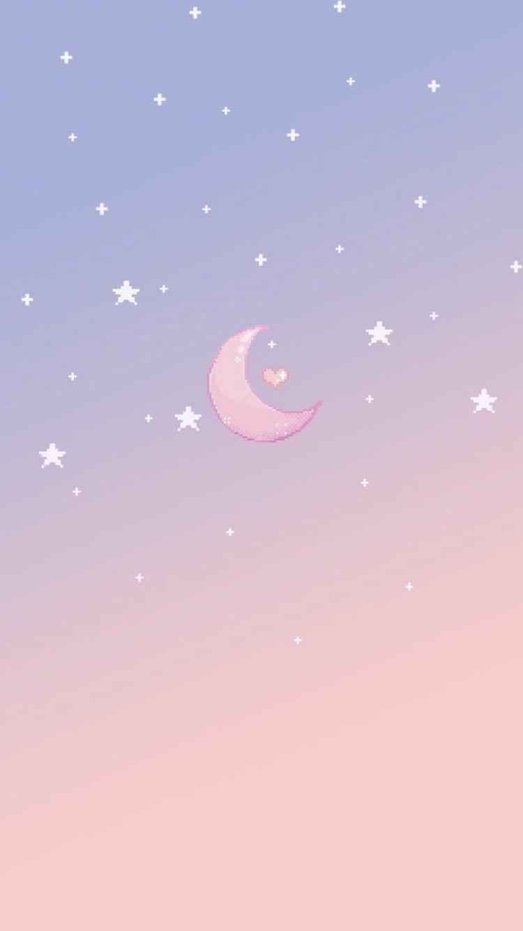 Night Sky Pixel Wallpaper Anime Wallpaper Iphone Iphone Wallpaper Kawaii Art Wallpaper