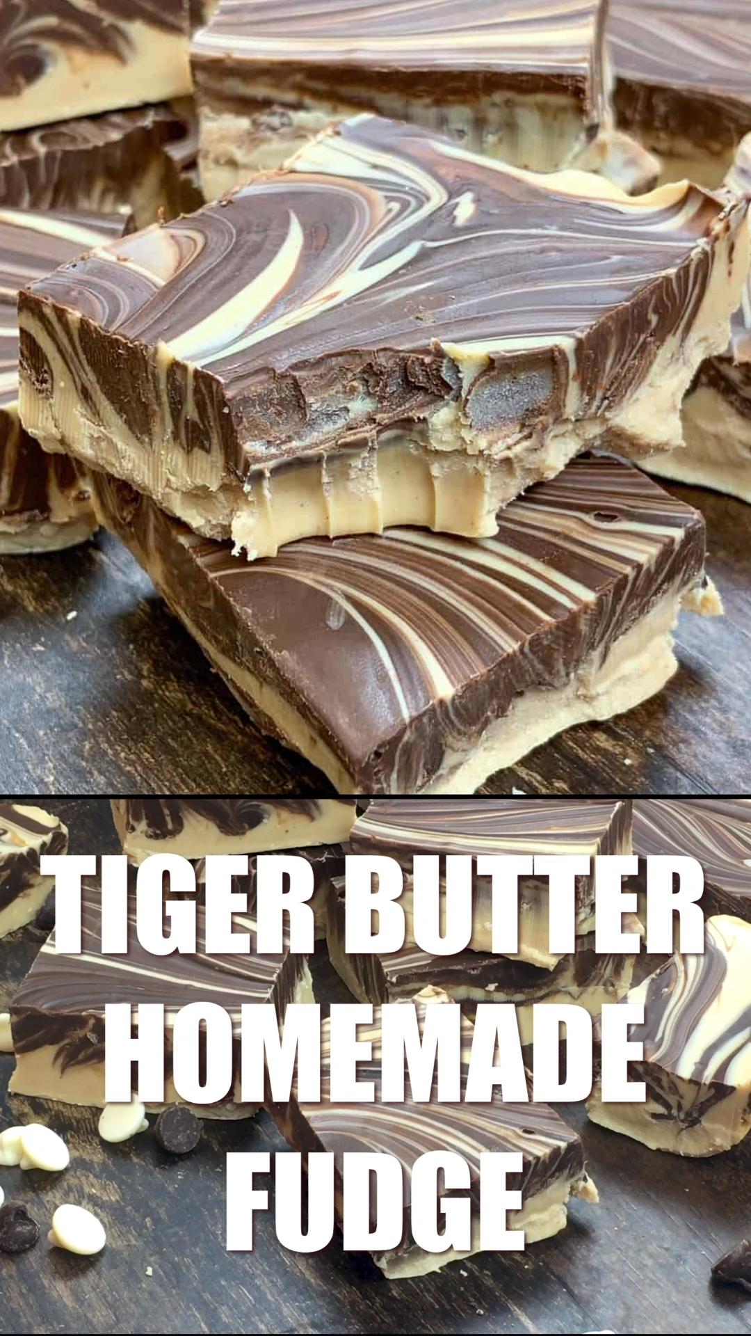 Tiger Butter Homemade Fudge