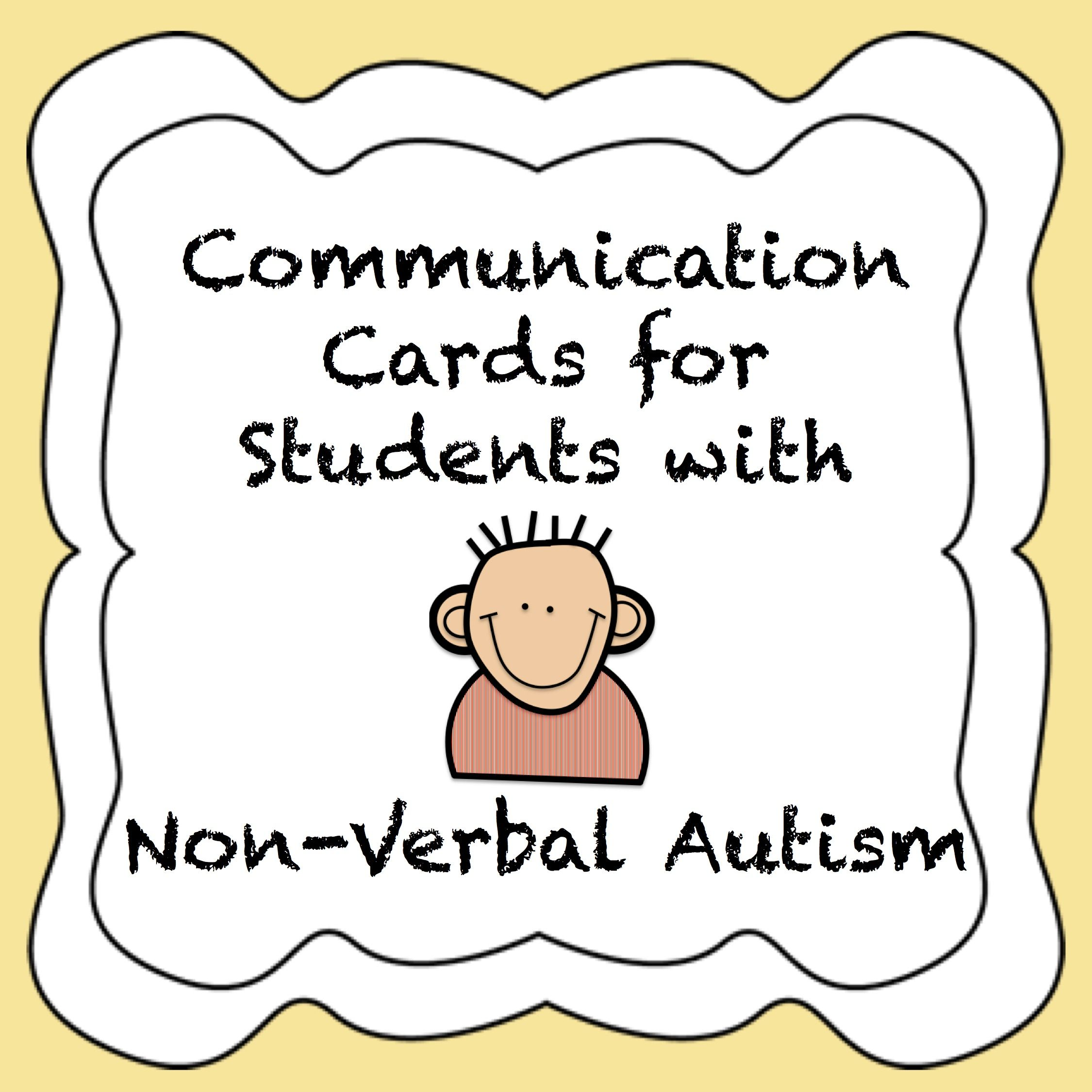 Autism Communication Cards For Non Verbal Students