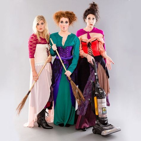 DIY This Hocus Pocus Costumes for Your Main Witches Sanderson - sisters halloween costume ideas