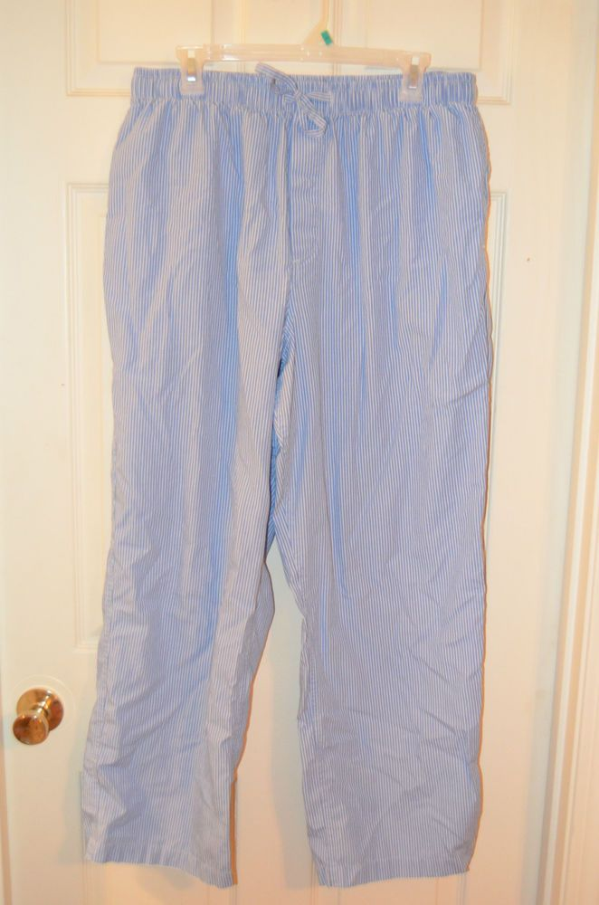 Brooks Brothers Men's Size Large Cotton Blue and White Stripe Pajama Pants-EUC #BrooksBrothers #LoungePants