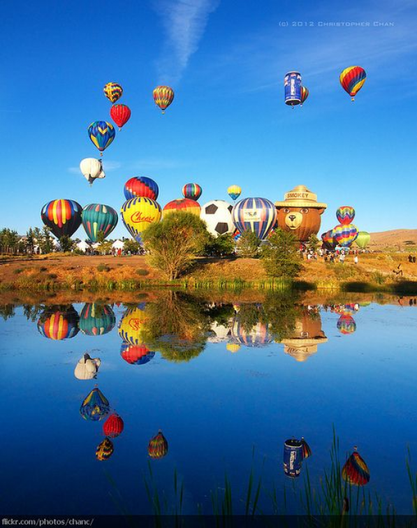 The Great Reno Hot Air Balloon Race is held the first