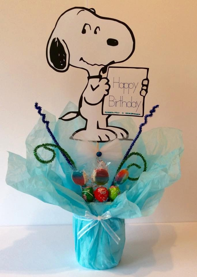 Snoopy charlie brown centerpiece stick quot image by