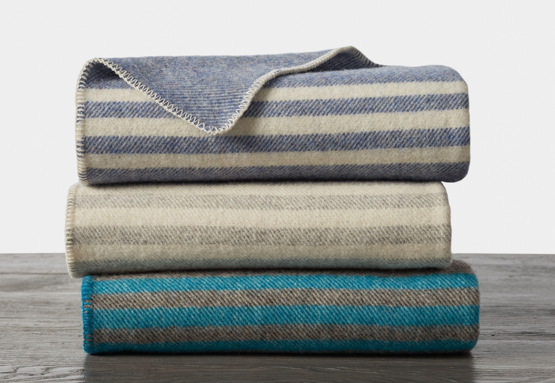 Striped Wool Blanket Wool Blanket Organic Cotton Blanket Organic Blankets