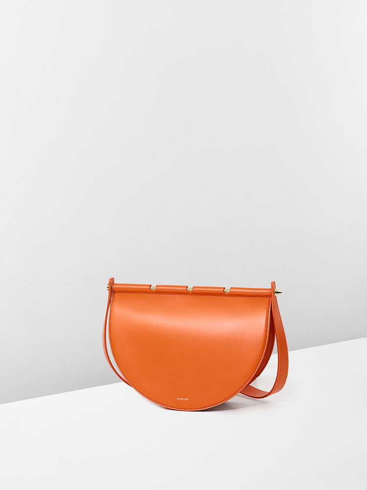 Orange calf leather #AshantiBag for #MuglerFallWinter