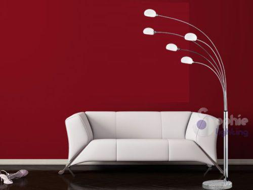 Piantana-moderna-lampada-da-terra-stelo-ad-arco-base-marmo-2-colori ...